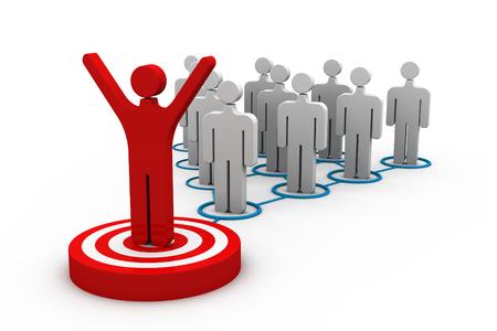 distinguish: 3d person icon leadership and team