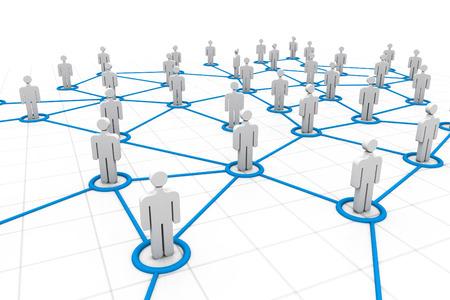 social relation: 3d social network concept    Stock Photo