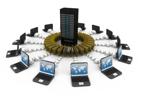 digital technology: file sharing concept; Data transferring;