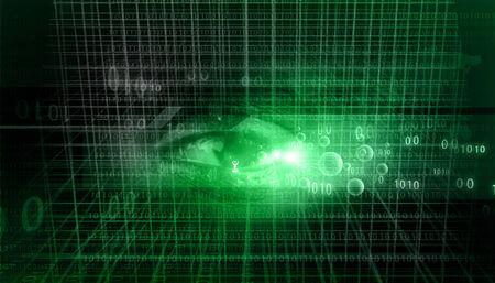 Digital data with a human eye. Digital eye background  photo