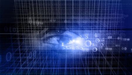 retina scan: Digital data with a human eye. Digital eye background