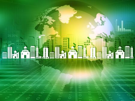 Globe concept for city. Urbanisation concept