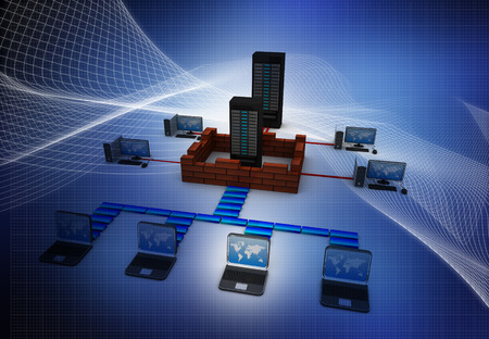 Computer Network and internet communication concept photo