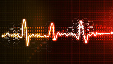 Electrocardiogram, ecg background   Stock Photo