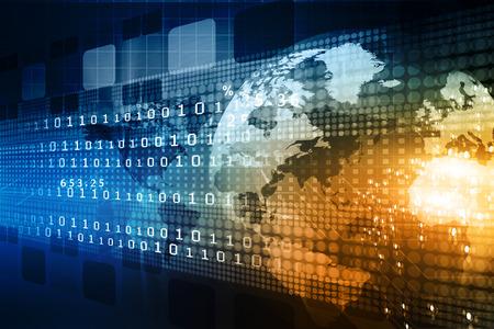 Technology background, notion du commerce mondial