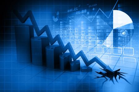 stock predictions: Grafico che mostra il declino di business
