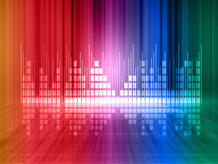 Colorful equalizer background   photo