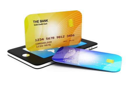 smart card: Mobile smart phone with credit card