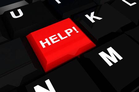keyboard and  Help   photo