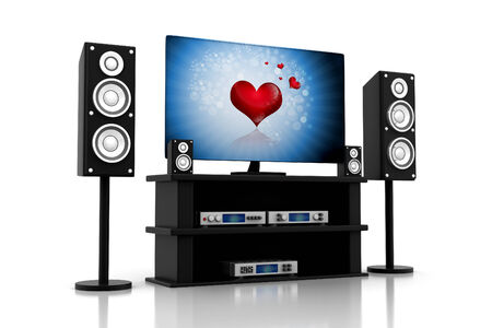 ambiance: home theater Components Television Stock Photo