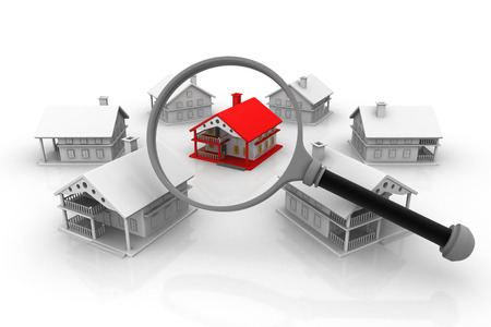 housing industry: Best House search, real estate concept