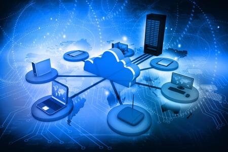 La computación en nube Foto de archivo - 30650668