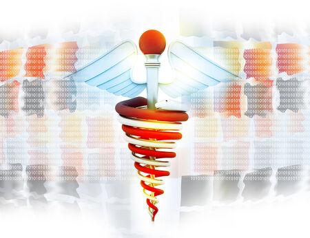 sceptre: medical symbol on abstract medical background