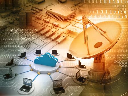 Information Technology background   photo