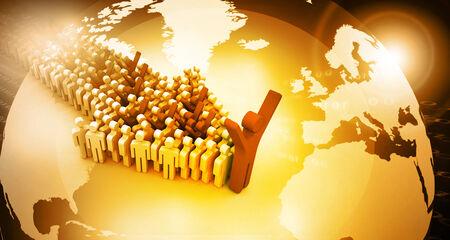 Global people leadership concept   photo
