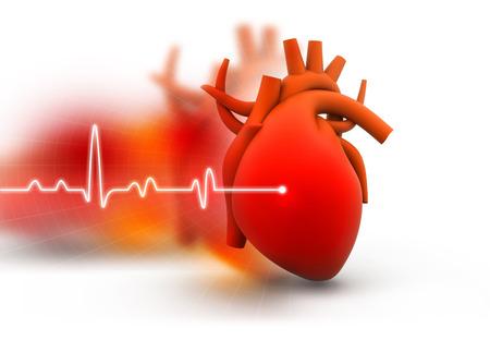 heart disease: Corazón humano en abstracto fondo oscuro