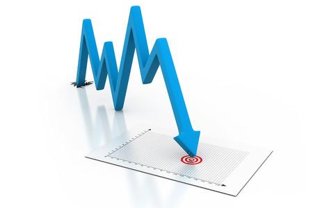 decline: Arrow Graph showing business decline