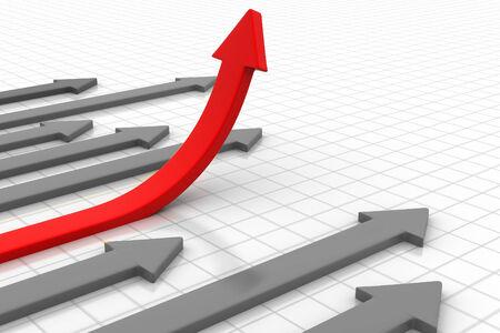 Business Arrow Graph  photo