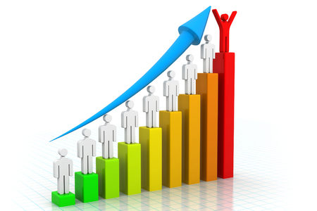 sales growth: Business Graph