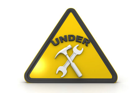 overhaul: under construction sign  Stock Photo