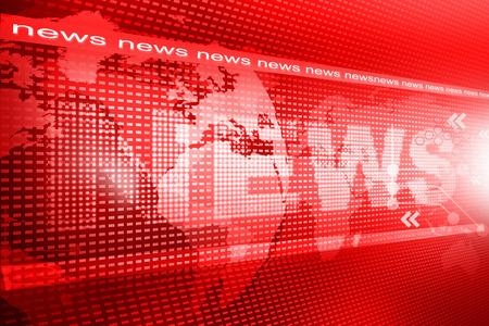 words News on digital red background Standard-Bild