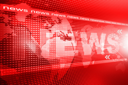news background: words News on digital red background