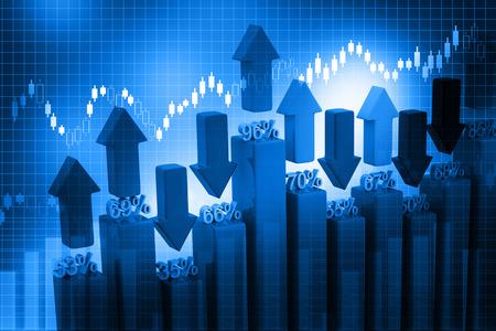 fondos negocios: Gráfico de asunto en fondo azul abstracto