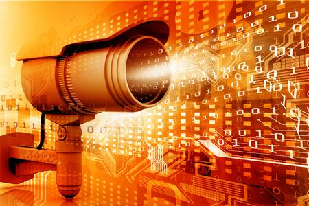 Caméra de surveillance avec le monde numérique