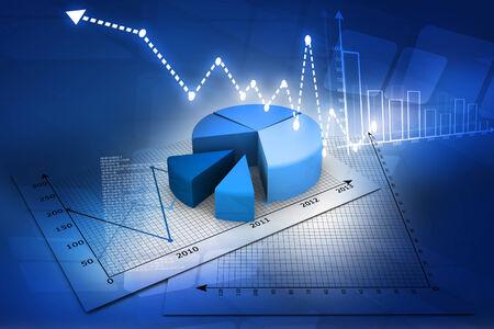 stock market charts: Business pie Graph    Stock Photo