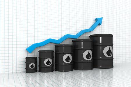oil barrel: price of oil concept   Stock Photo