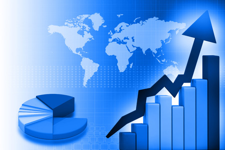 world market: Business Graph background