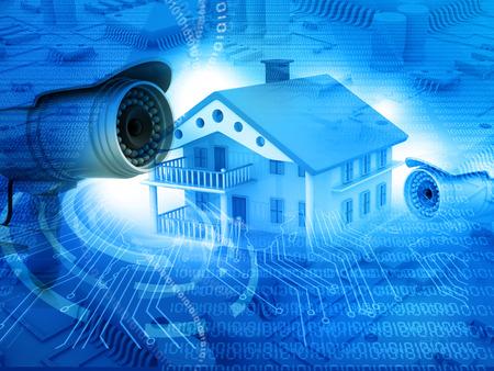 cctv: Casa con c�mara de seguridad, protecci�n de la casa, CCTV