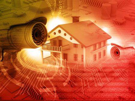 보안 카메라, 주택 보호, CCTV가있는 집