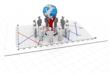 Businesspeople with business charts