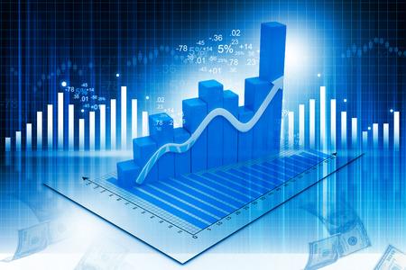 추상 금융 배경에 비즈니스 그래프의 3d 일러스트