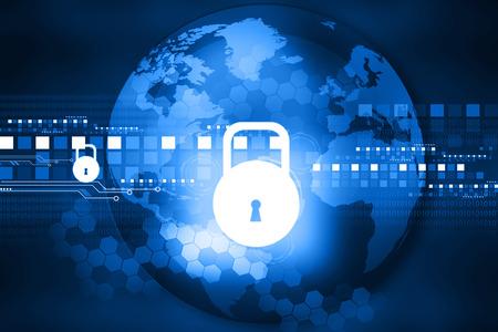 Cyber-Sicherheitskonzept, Platine mit Schlosssymbol
