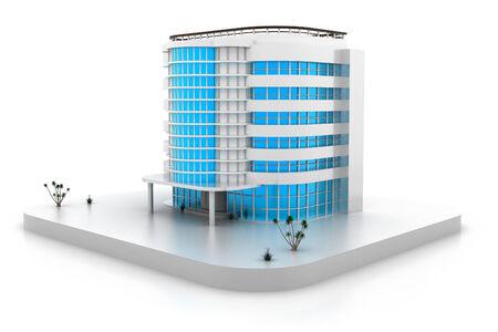 3D building model Banque d'images