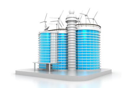 model houses: 3D building model Stock Photo