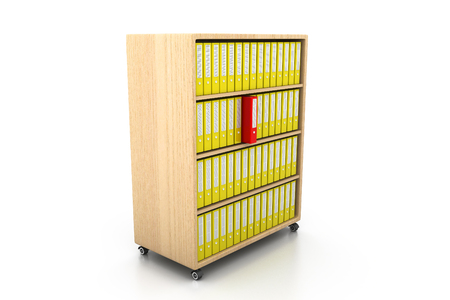 file folders: file folders, documents standing on the shelves