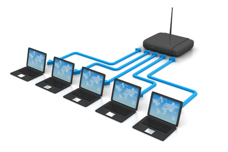 internet network: Network and internet communication concept
