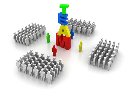 crowed: Business team concept Stock Photo