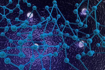 3d render of molecule
