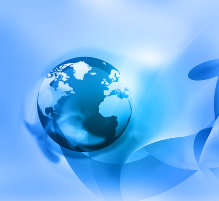 fondos: World on Abstract blue background