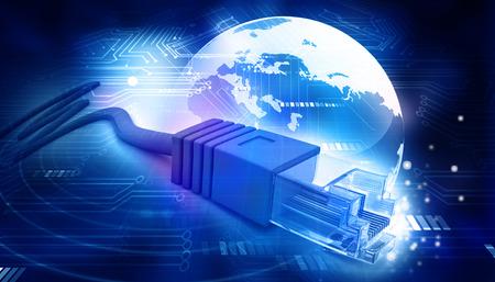 cable red: Red de fondo de tecnología de cable