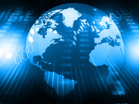 international monitoring: global stock market Stock Photo