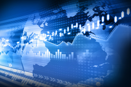 Stock Market Chart, graph Reklamní fotografie