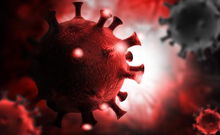 3d render of virus