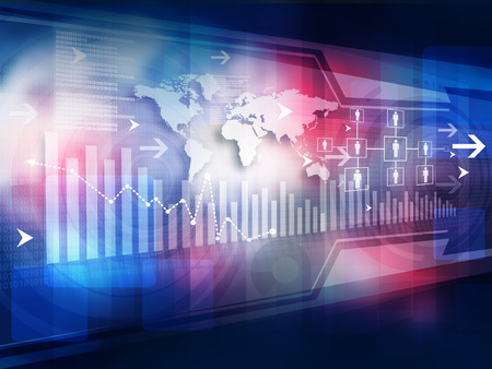 financial world: Business graph background Stock Photo