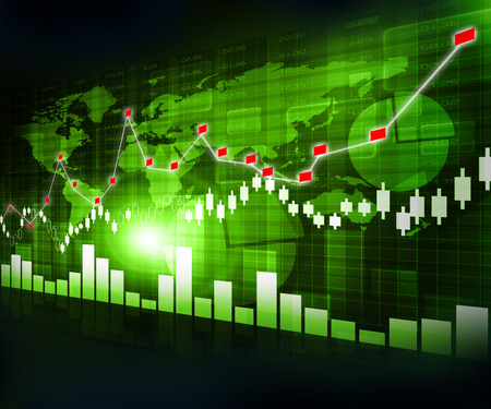 stock market chart: Digital design of Stock market chart