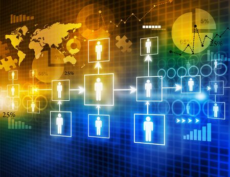 teleconference: Digital image of  business networking